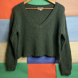 Golden by TNA Knit Crop Style Oversized Sweater
